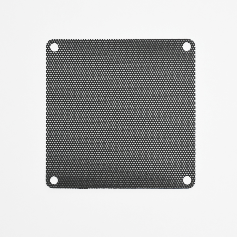 80mm PVC Black Fan Filter (2 pcs)