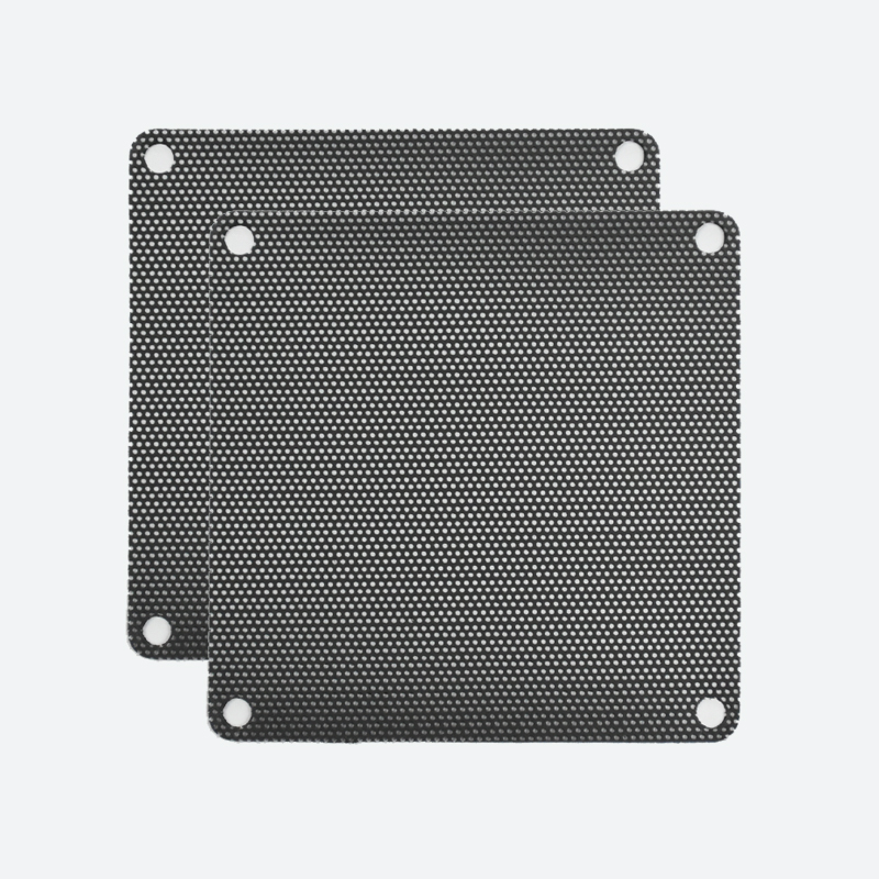 92mm PVC Black Fan Filter (2-Pack)