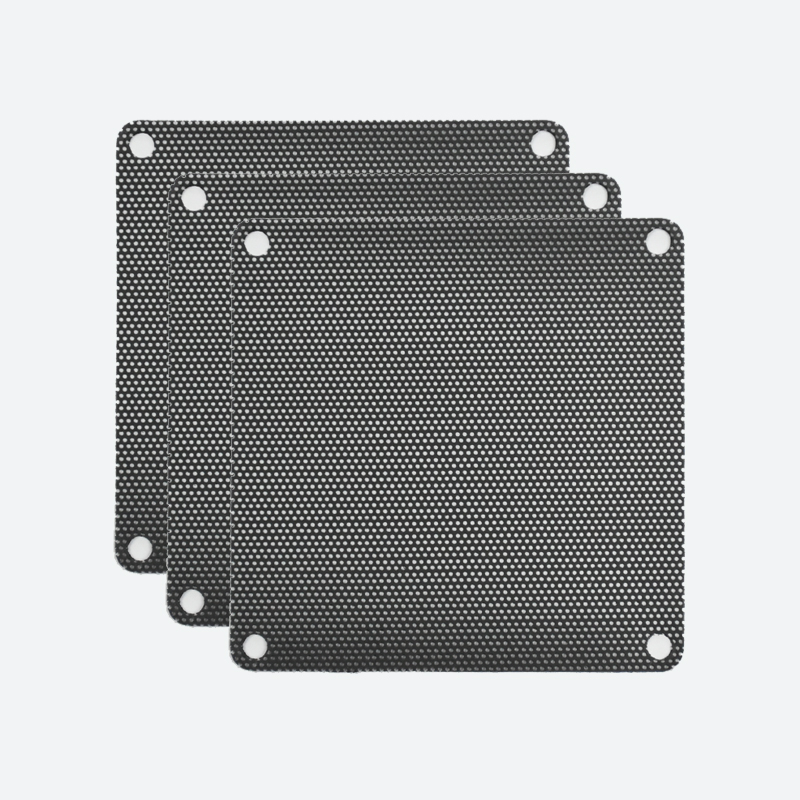 92mm PVC Black Fan Filter (3-Pack)